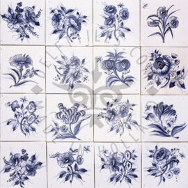Big Blue Flowers Tiles (BG)