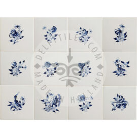 Small Flower Tiles (BK)