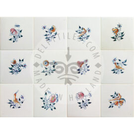 Small Flower Tiles Multi Color (BK_mc)