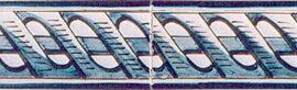 Border Tile 8 – Nice Border Landscapes Boats – 13 X 6.5 Cm (R LL)