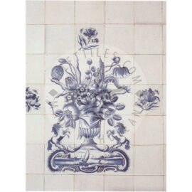 12 Tile Antique Blue And White Tiles Panel