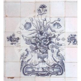 12 Tile Dutch Delft Antique Panel