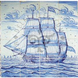 16 Tile Ship Mural
