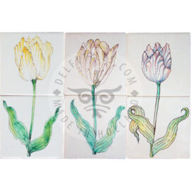 17th Century Tulips 1×2 Tiles (HT2_m/n/o)