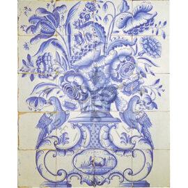 20 Tile Antique Delft Tile Panel With 2 Birds