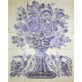 20 Tile Antique Panel Delft 1780