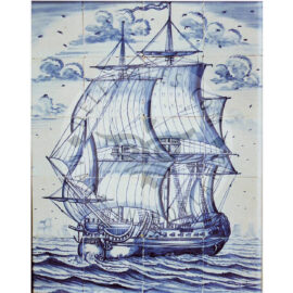 20 Tile Blue And White Ship Panel