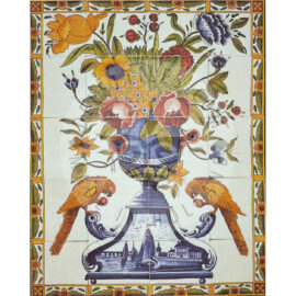 20 Tile Polychrome Floral Panel