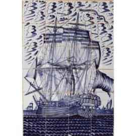 24 Tile Antique Ship Panel 'Bolsward'