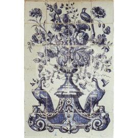 24 Tile Decorative Flower Panel Anno 1760