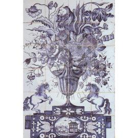 24 Tile Century Antique Tile Panel