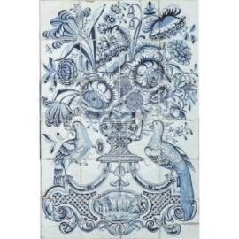 24 Tile Delft Blue And White Antique Panel