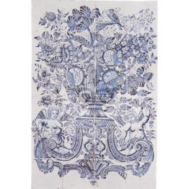 24 Tile Floral Panel With Cupids