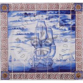 30 Tile Sepia Blue Ship Panel