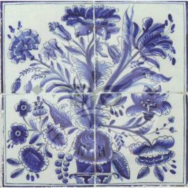 4 Tile Floral Panel