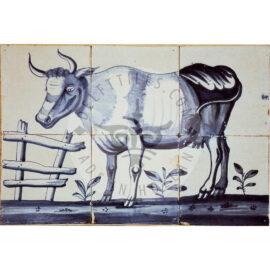 6 Tile 'Potter' Cow Tile Panel 1800