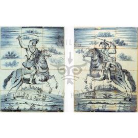 12 Tile 2 Pendant Tile Panels Men On Horse
