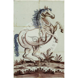 6 Tile Rare Horse Tile Panel