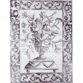 6 Tile Panel With Border And Cupids