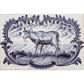 6 Tile Cow In Acolade Panel
