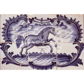 6 Tile Horse In Acolade Panel