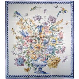 Flower Piece Color + Border 6×7 Tiles (BV42a_mc)