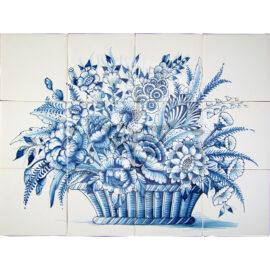 Flower Basket Mural 4×3 Tiles (BM12a)