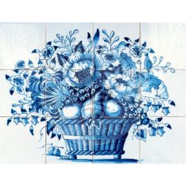 Fruit & Flower Mural 4×3 Tiles (BM12b)