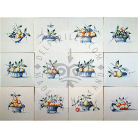Multi Color Fruit Basket Tiles (FM_mc)