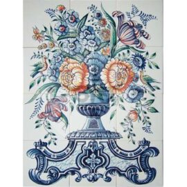 Vase With Flowers 3×4 Tiles (BV12a_mc)