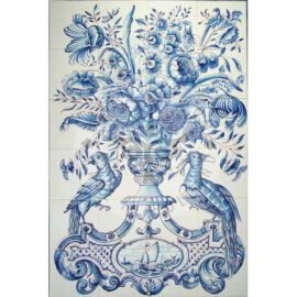 Flower Vase Mural 4×6 Tiles (BV24a)
