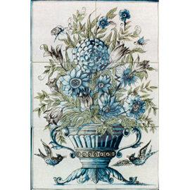 Flower Vase Mural 2×3 Tiles (BV6a_aut)
