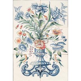 Flower Vase Mural 2×3 Tiles (BV6b_mc)