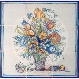 Vase With Flowers 3×3 Tiles (BV9c_mc)