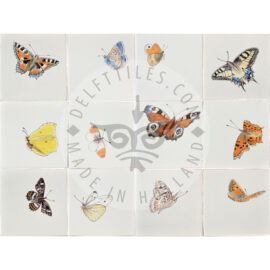 Butterflies Big Multi Color Tile (HDVG2_mc)