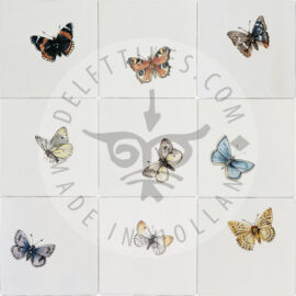 Butterflies Big Multi Color Tile (HDVG_mc)