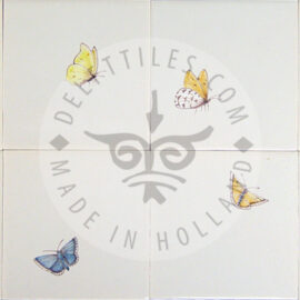 Butterflies Small Multi Color Tile (HDVK_mc)