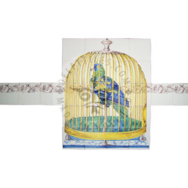 Parrot In Cage 4×5 Tiles