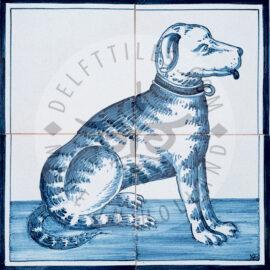 Sitting Dog 2×2 Tiles
