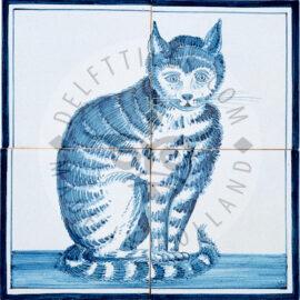 Sitting Cat 2×2 Tiles