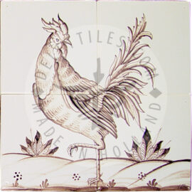 Rooster 2×2 Tiles
