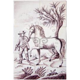 Man & Horse 2×3 Tiles