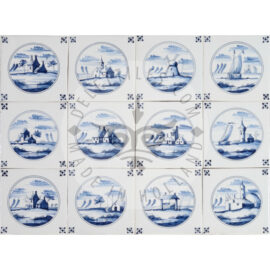 Landscape In Circle Tiles (LC)