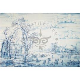 Winter Landscape Tile Mural 6×4 Tiles (L24a)