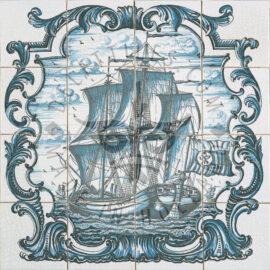 Ship In Acaolade 4×4 Tiles