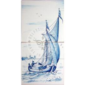 Sailing Boat  Mural 1×2 Tiles