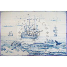 Ship & Whale Scene 6×4 Tiles