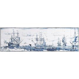 Whale Hunt Mural 10×3 Tiles