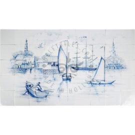 Nantucket Harbour Scene Panel 9×5 Tiles