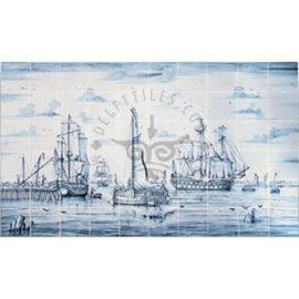 Harbour Boat Ship Scene 10×6 Tiles